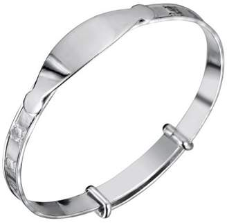 Jo for Girls Sterling Silver Expanding Teddy Id Bangle