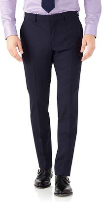 Charles Tyrwhitt Navy Slim Fit Performance Suit Wool Stretch Pants Size W38 L34