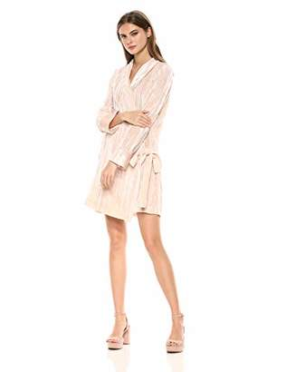 BCBGMAXAZRIA Azria Women's Velvet Tunic Wrap Robe Dress