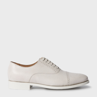 Women's Ivory Leather 'Bertie' Brogues $450 thestylecure.com