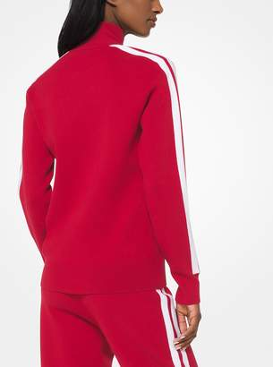 Michael Kors Stretch-Viscose Track Jacket