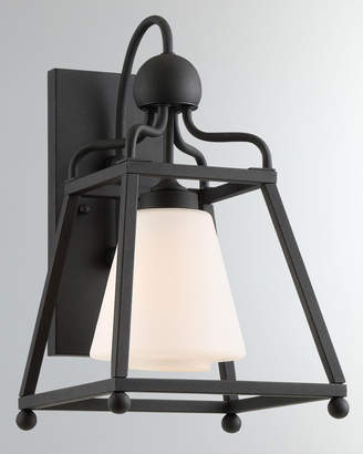 Libby Langdon Sylvan 1-Light Black Forged Outdoor Wall Mount