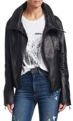 Moto TRE by Natalie Ratabesi Stella Leather Jacket