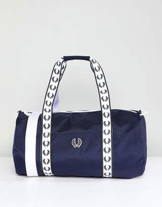 Fred Perry Track Barrel Bag In Navy