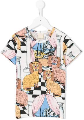 Mini Rodini Oh La La Dashing Dogs printed T-shirt