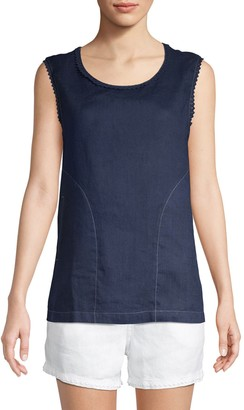 Raffi Sleeveless Linen Top