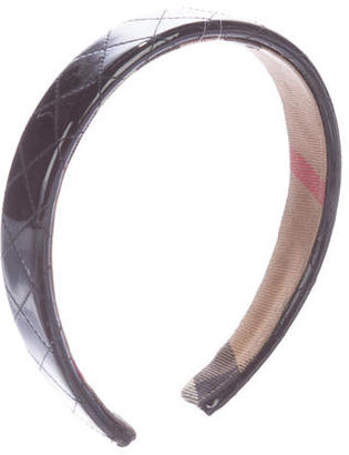 Burberry Quilted Patent Headband