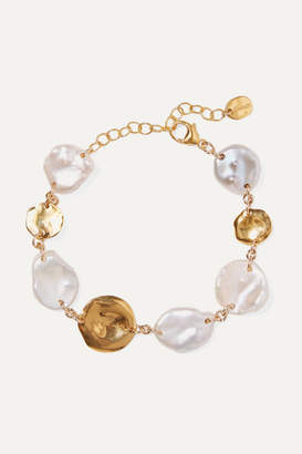Chan Luu Gold-plated Pearl Bracelet