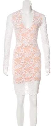 Nightcap Clothing Lace Sheath Dress