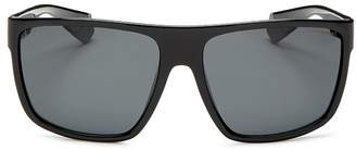 Polaroid Men's Polarized Flat Top Square Sunglasses, 64mm