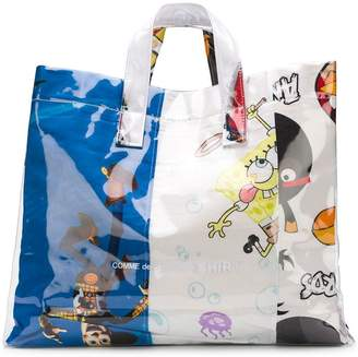 Comme des Garcons multi cartoon print tote