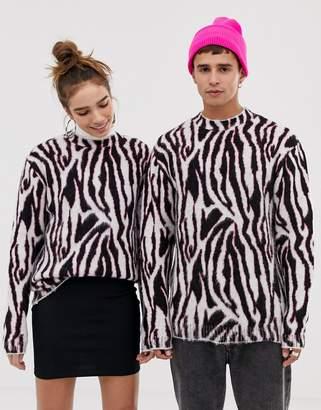 Collusion COLLUSION Unisex sweater in zebra