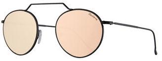 Illesteva Wynwood II Round Mirrored Sunglasses $177 thestylecure.com