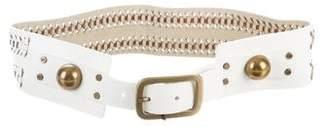Diane von Furstenberg Deliah Woven Leather Belt w/ Tags