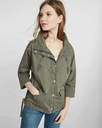 Express Lace-Up Side Military Jacket