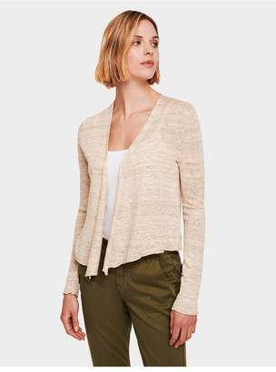 White + Warren Linen Cropped Swing Cardigan