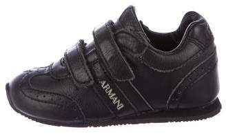Armani Junior Boys' Leather Low-Top Sneakers