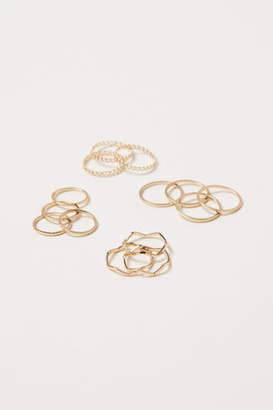 H&M 14-pack Rings - Gold