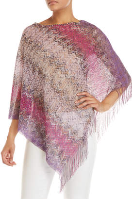 Missoni Pink & Purple Zigzag Poncho