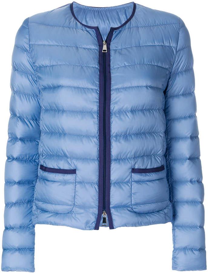 Gesteppte 'Cristal' Jacke ohne Kragen