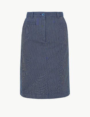Marks and Spencer Striped A-Line Skirt