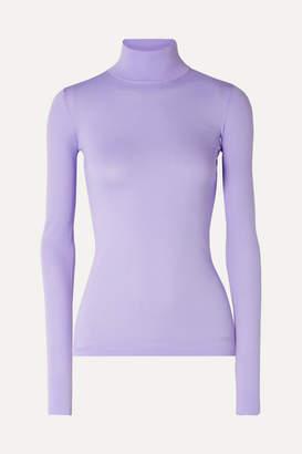 Les Rêveries Stretch-knit Turtleneck Top - Lilac