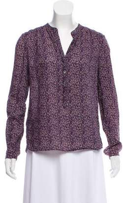 Zadig & Voltaire Floral Long Sleeve Top