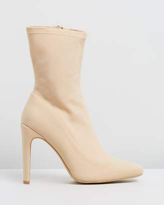 Missguided Square Toe Sock Boots