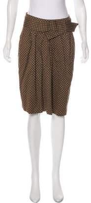 Marni Bow-Accented Polka Dot Skirt