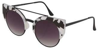 Topshop CARREY Browbar Clubmaster Sunglasses