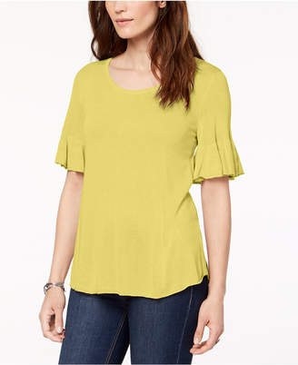 Style&Co. Style & Co Scoop-Neck Bell-Sleeve Sweater, Created for Macy's