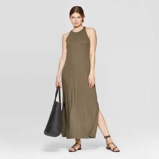 A New Day Women's Sleeveless Round Neck Rib Knit Maxi Dress