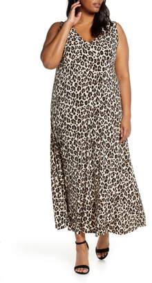 Vince Camuto Leopard Knit Maxi Dress
