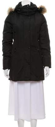 Andrew Marc Fur-Trimmed Down Coat