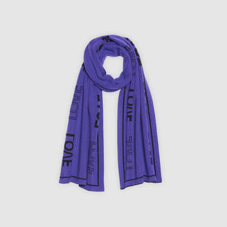 Sandro Scarf with lettering