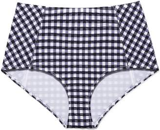 Tory Burch GINGHAM HIGH-WAISTED BOTTOM