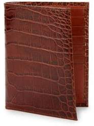 Abas Embossed Leather Bi-Fold Passport Wallet