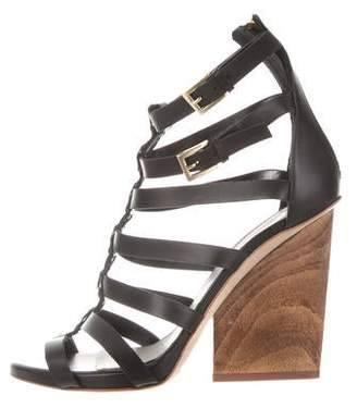 Maiyet Leather Cage Sandals