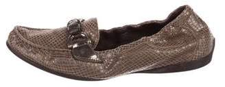 AGL Embossed Leather Loafers
