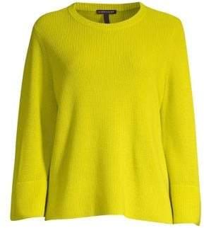 Eileen Fisher Flared Sleeve Wool Sweater