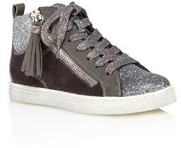 Dolce Vita Girls' Zaila Glitter High Top Sneakers - Little Kid, Big Kid