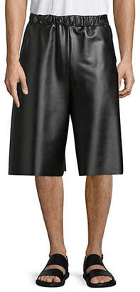 PEDRAM KARIMI Oversized Latex Leather Shorts