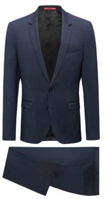 HUGO Boss Chalkstripe Wool Suit, Extra Slim Fit Phil/Taylor 46L Dark Blue