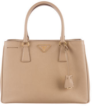 prada Prada Medium Saffiano Lux Galleria Double Zip Tote