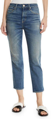 Amo Denim Babe Straight-Leg Cropped Jeans