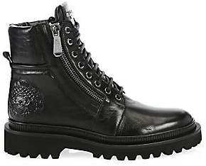 Balmain Men's Army Ranger Leather Combat Boots