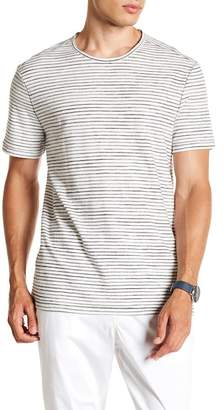John Varvatos Crew Neck Short Sleeve Stripe Tee