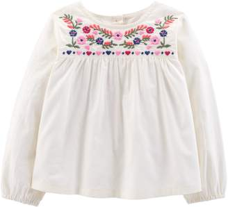 Osh Kosh Oshkosh Bgosh Toddler Girl Floral Embroidered Top