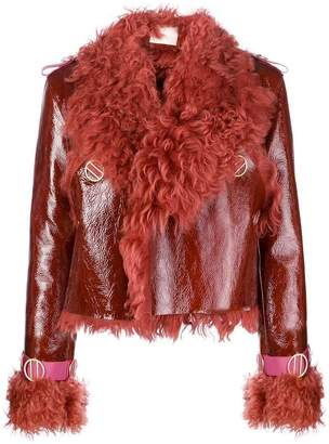 Dion Lee fur trimmed jacket