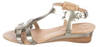 Tod's Patent Wedge Sandals